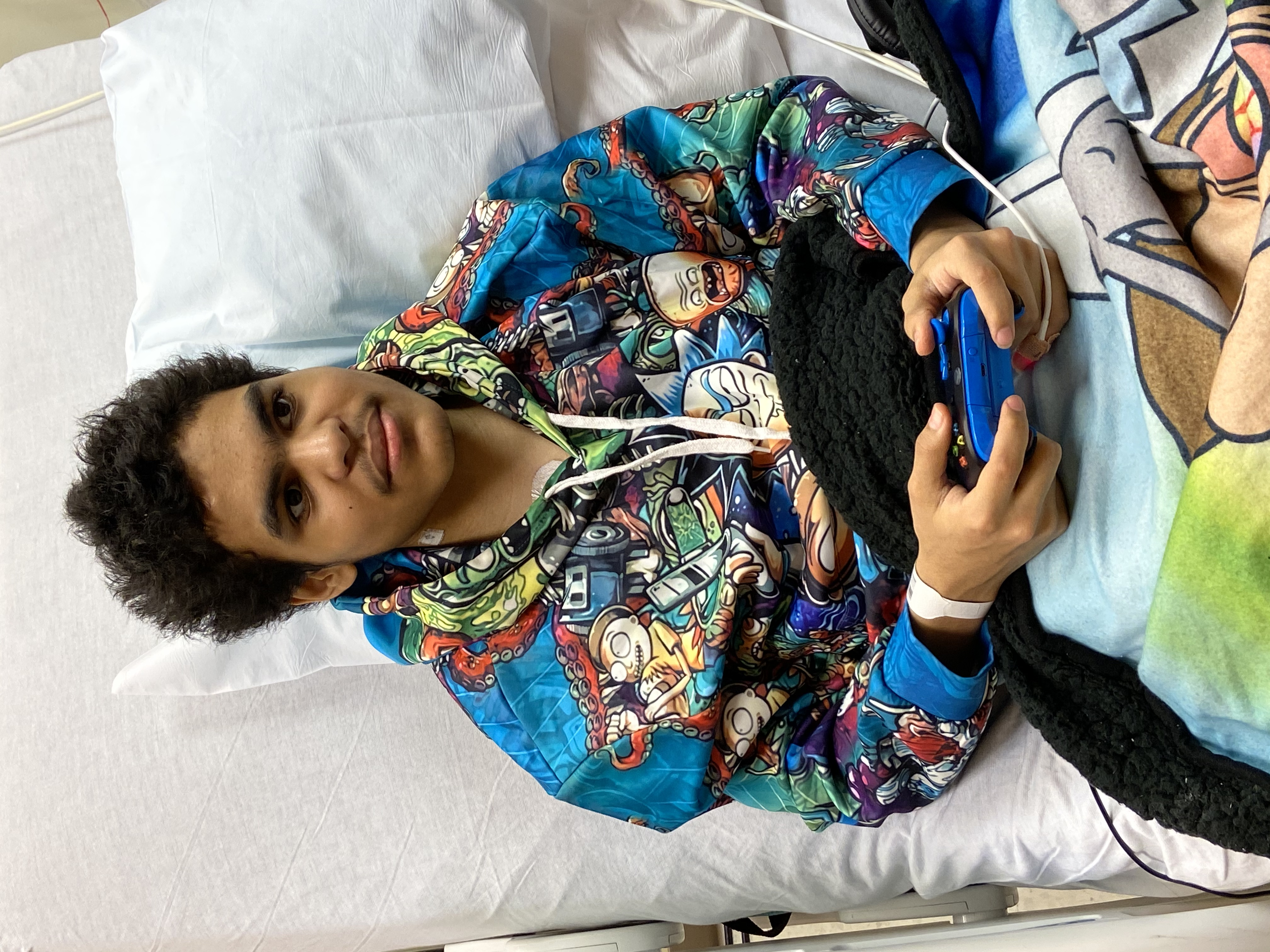 Patient playing game